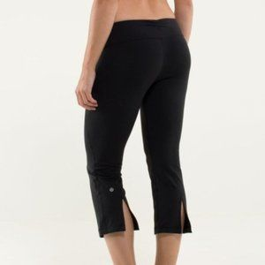 Lululemon Gather & Crow Crop Black Yoga Pants